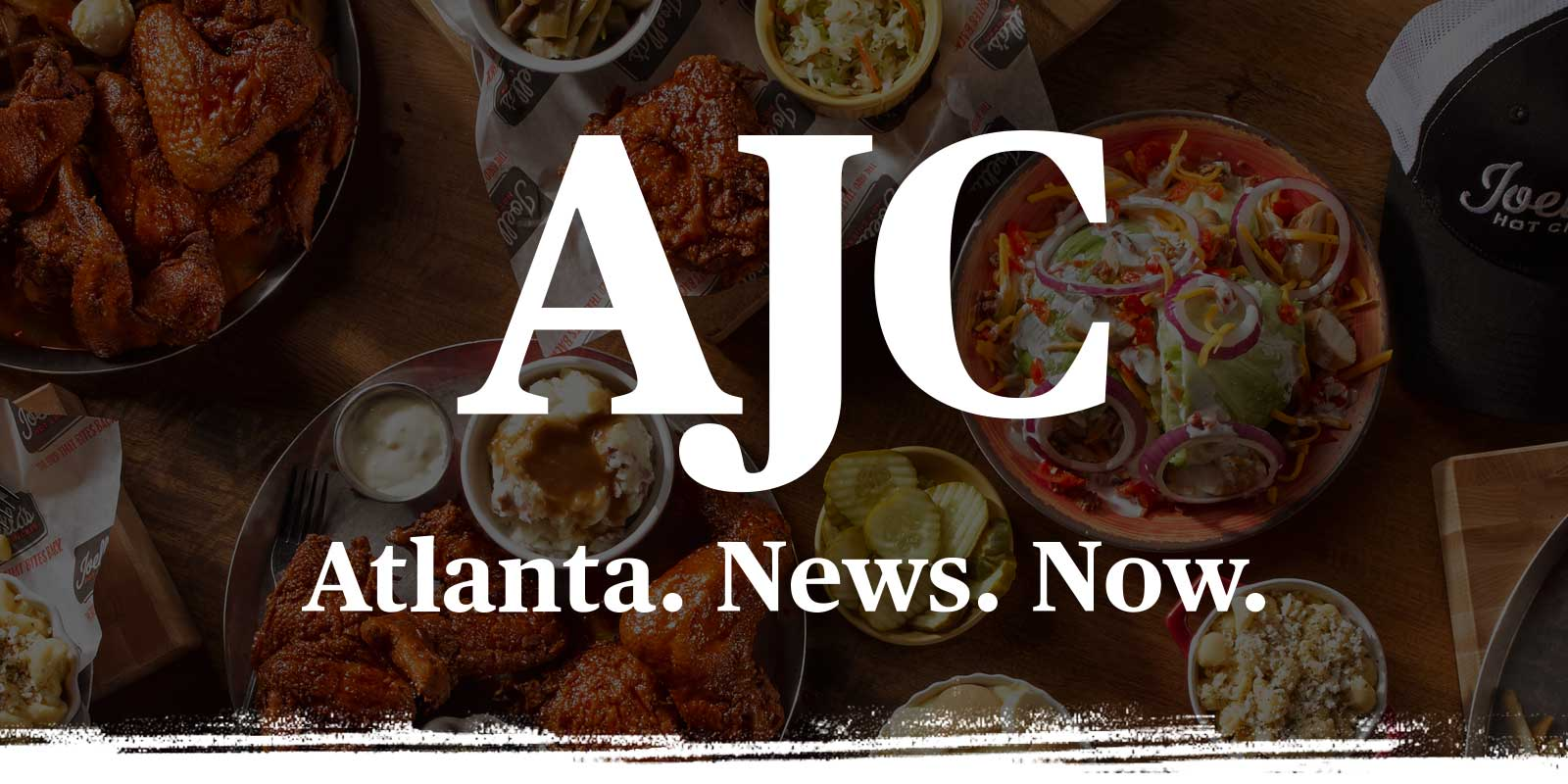AJC logo on big table full of food background