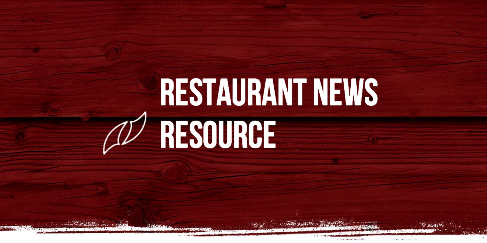 Restaurant News logo on red weathered wood background